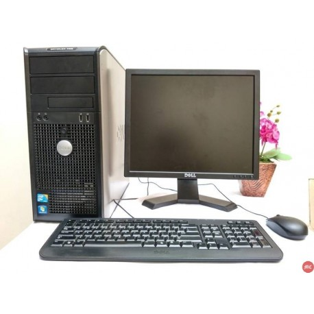Paket lab komputer Dell Optiplex 780 Core2Duo Tower | LCD Dell 17 inch kotak