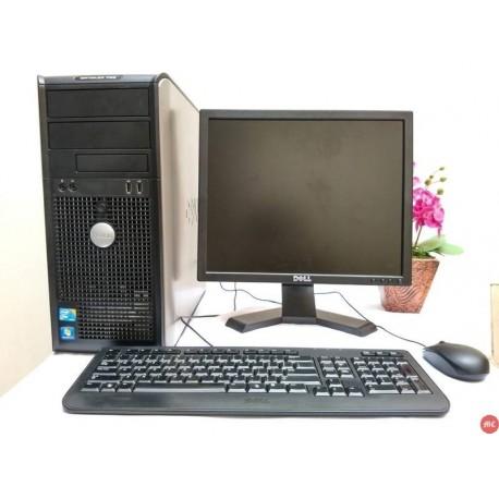 Paket lab komputer Dell Optiplex 780 Core2Duo Tower   LCD Dell 17 inch kotak