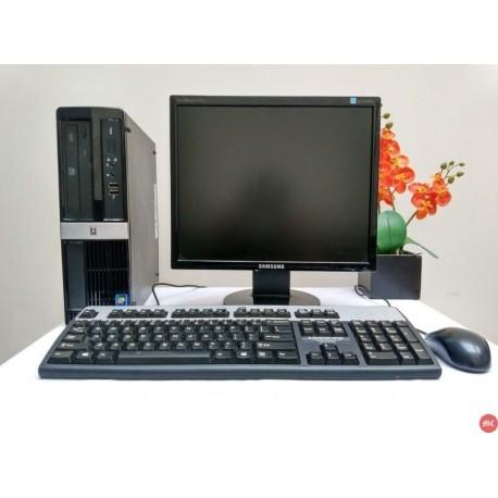 Paket Komputer Sekolah HP 3000 sff Core 2 Duo Tower |LCD 17 inch square