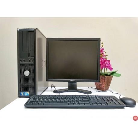Paket lab komputer Dell Optiplex 380 Core2Duo Desktop | LCD Dell 17 inch kotak