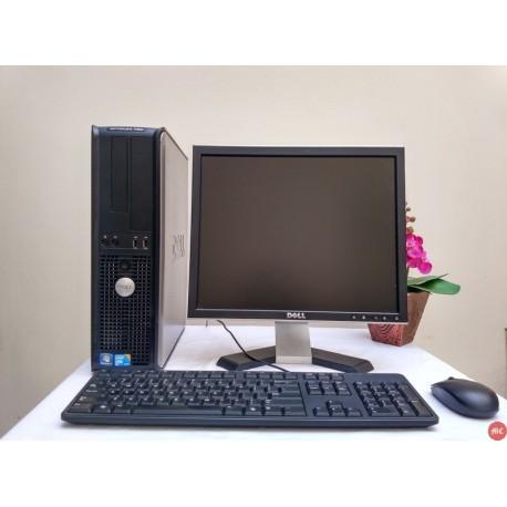 Paket lab komputer Sekolah Dell Optiplex 780 Core2Duo Desktop | LCD Dell 17 inch kotak