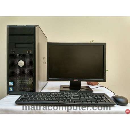 Paket komputer sekolah Dell Optiplex 380 Core2Duo Tower | LCD 17 inch wide