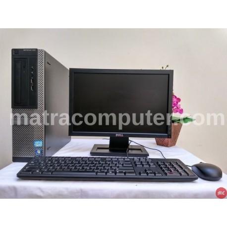 Paket komputer kantor Dell Optiplex 390 Core i5 Desktop | LCD 17 inch wide