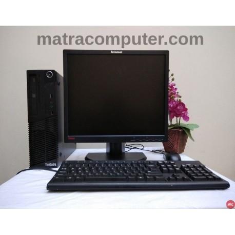 Paket komputer Lenovo Thinkcentre M72e Core i5 Desktop | LCD 19 inch square