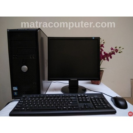 Paket komputer sekolah Dell Optiplex 380 Core2Duo Tower | LCD 17 inch square