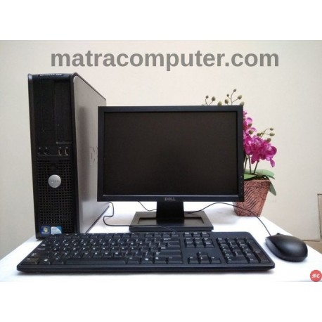 Paket Dell Optiplex 380 Core2Duo Desktop | LCD 17 inch wide