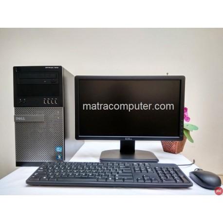 Paket komputer kantor bekas Dell Optiplex 7010 Core i7 Tower | LCD 19 inch wide