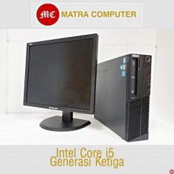 Paket Lenovo M82e Core i5 Desktop | LCD 19 inch square