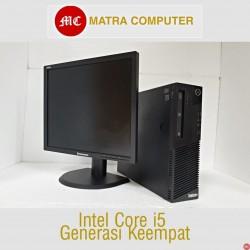 Paket komputer bekas kantor Lenovo  M93e Core i5 Desktop | LCD 19 inch square
